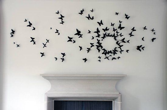 Gossip Girl DIY project!! Cut out butterflies on cardstock paper and place on a wall for an instant chic art piece. No one will be able to tell the difference between Serena's wall...and yours!