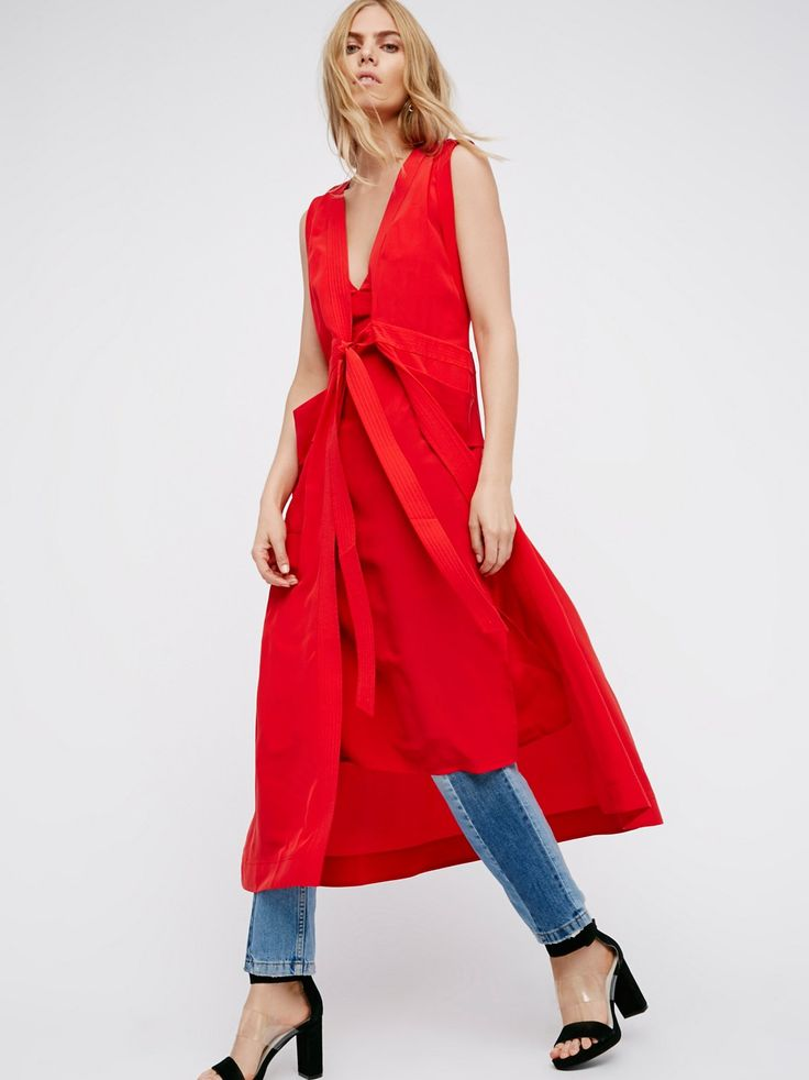 Roll With It Maxi Dress | High low wrap dress in an easy cotton with dropped armholes. The front layer features button closures in back. Adjustable waist tie for a good fit.