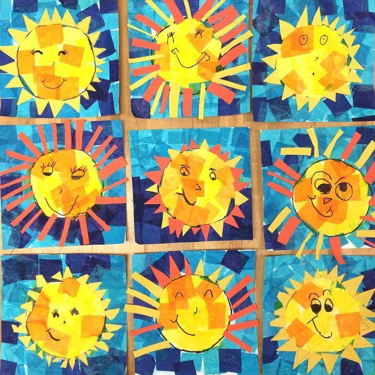 Happy #kindergarten Suns um Ihren Tag zu verschönern! Seidenpapier und Konstruk…