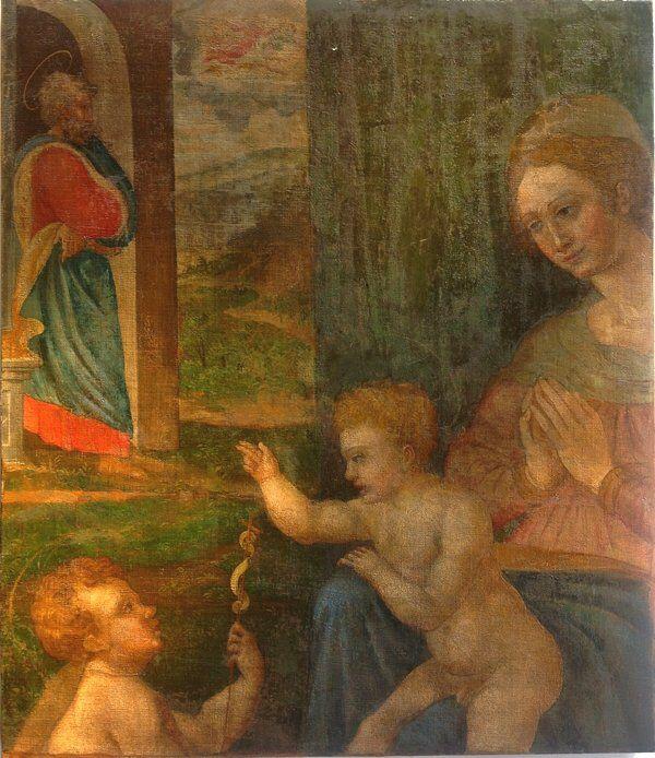 Sacra Famiglia Olio su tela XVI secolo