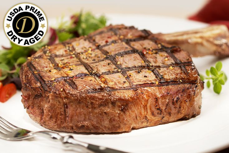 """USDA Prime Dry Aged Bone-In Ribeye: """"Our USDA Prime, Dry Aged Steak Ribeyes have a mellow taste that only comes from… #Beef #Steaks #Wagyu"""