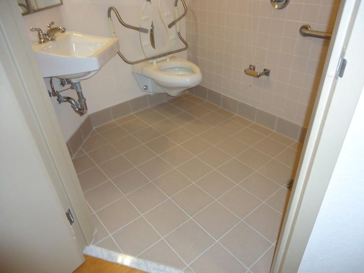 After SaniGLAZE Ceramic floor tiles, Sealing grout