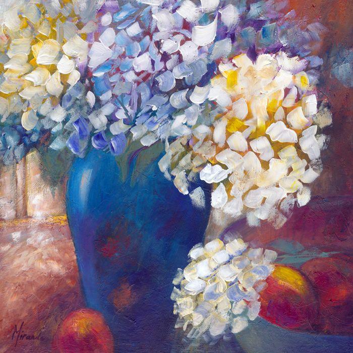 Hydrangeas,  46x46x1.5cm,  Acrylic on Canvas,  $160