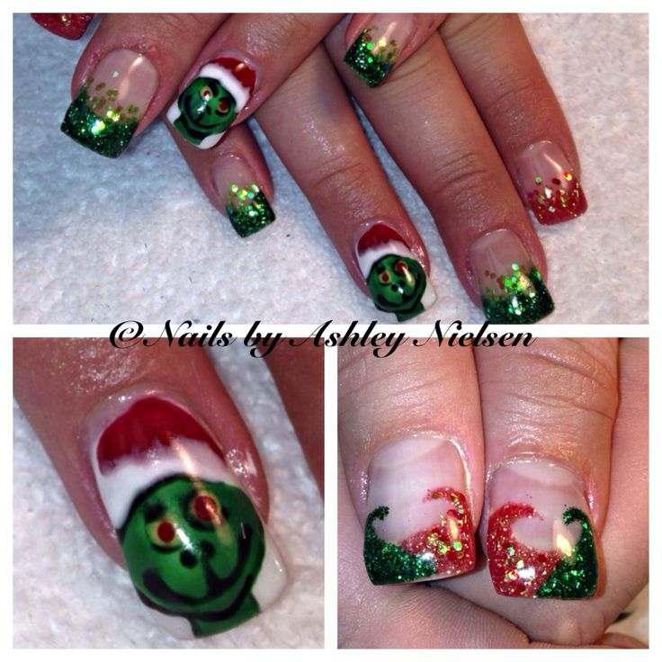 Hand Painted Christmas Nail Art: 237 Best My Nail Art Images On Pinterest