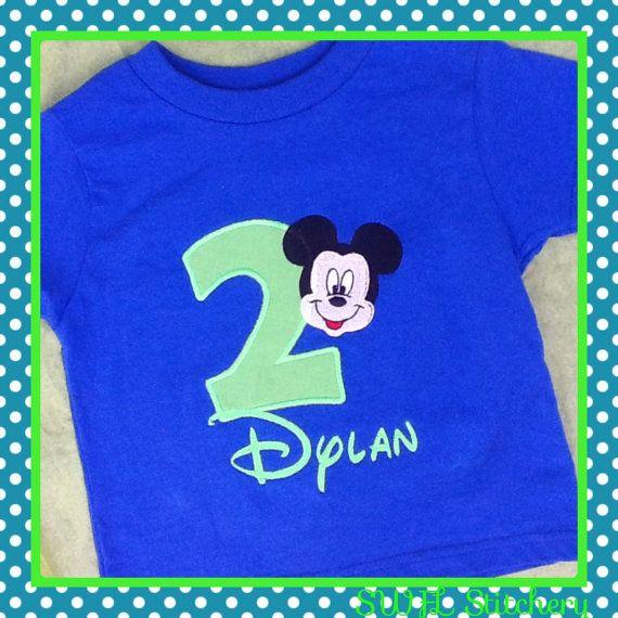 Mickey Mouse Birthday Shirt by Cre8bySWFLStitchery on Etsy, $20.00