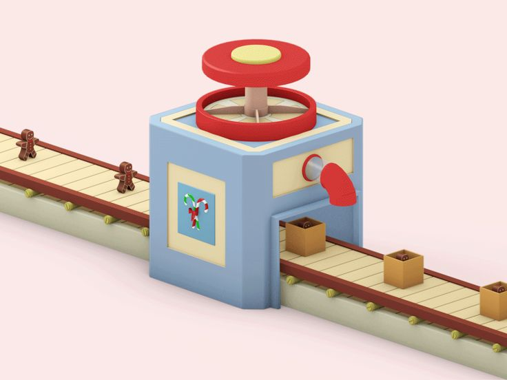 Gift Machine on Behance ; Candy Box  Gif Animation