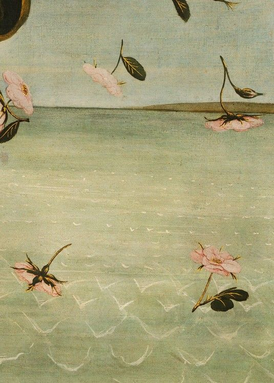 Detail from Birth of Venus, Sandro Botticelli, 1496