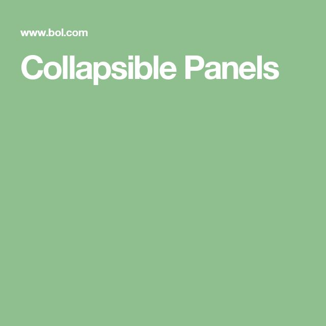 Collapsible Panels #1