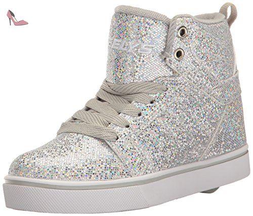Heelys - Chaussures à Roulettes - Uptown Silver Disco Glitter-39 eSrVLaF9R