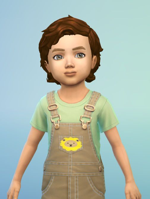 Birksches sims blog Windy Hair for Toddler Sims 4 Hairs