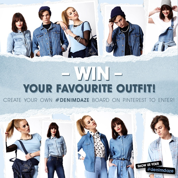 Fancy winning your fave boohoo #DenimDaze outfit?  Click here to enter our Pinterest competition >> http://www.boohoo.com/restofworld/page/pinterest/