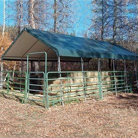 """Weathershield Commercial Canopy 18'W X 20'L Green . $1226.00. WeatherShield Commercial Canopy 18'W x 20'L Green Host outdoor events under a Heavy-Duty Weathershield Commercial Canopy.Quick and easy assembly on any surface. EZ-Lock slip fittings mean less building time, more event time.14 gauge, 1.66"""" OD Allied Gatorshield structural steel tubing.12.5 oz., 24 mil premium covers come with a 15 year warranty.Sidewall height: 6'6"""". To provide secure and stable holding power, Anch..."""