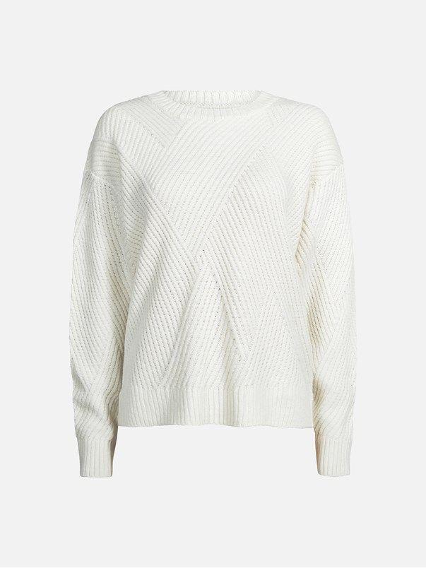 Paula strikket genser | | Offwhite | BikBok | Norge
