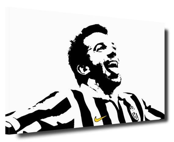 Alessandro Del Piero Juventus Modern Picture Hand Painted Pop Art Style Paintings Acrylic Paint On Canvas Portraits Artetribute Artepopart Pop Art Acrylic Painting Canvas Art Style Latest juventus room paint color