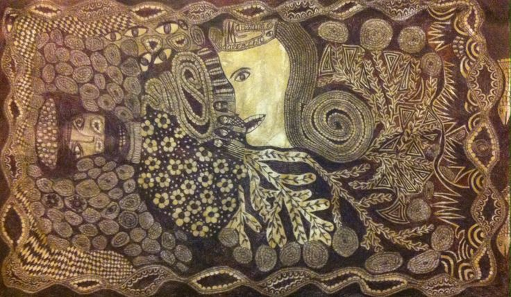 stylo bille sur toile 67 x 40 cm. F.Matemma Dallocchio 15 octobre 2016