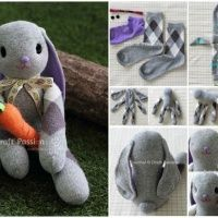 How to Make A Cute Sock Bunny – No Sew