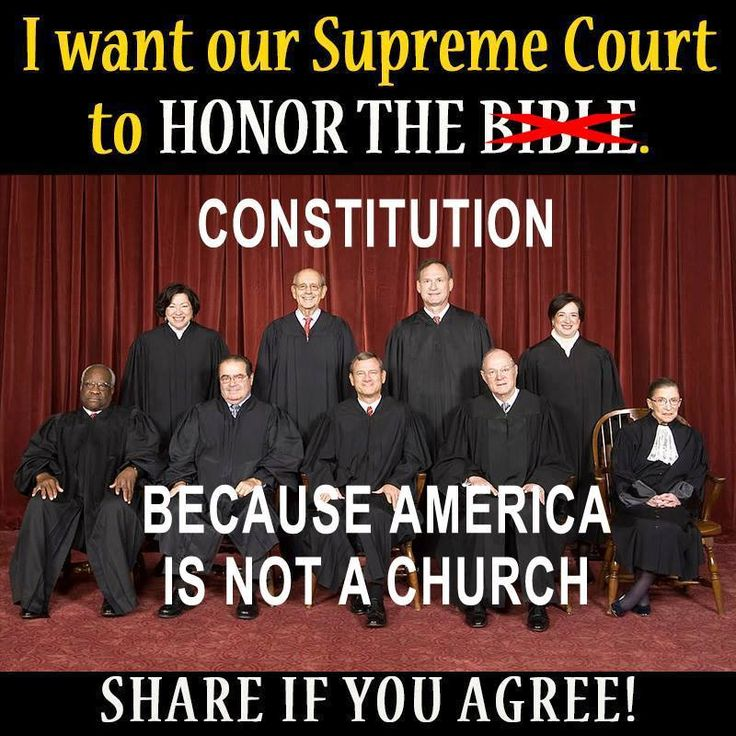 """America might be founded on Christian values but nowhere in the Constitution does it say anything about """"separation of church and state,"""" that's a bastardization. Honestly. Go look it up. I dare you."""