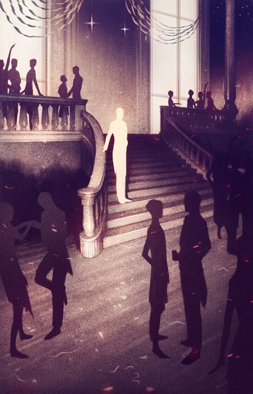 How does the writer of the great gatsby create an opulent atmosphere?