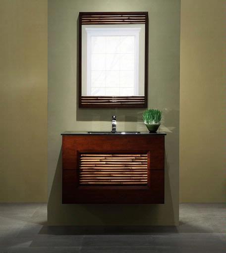 The Art Gallery Xylem Bambu Wall Mount Bathroom Vanity zen spabathroom asian decor