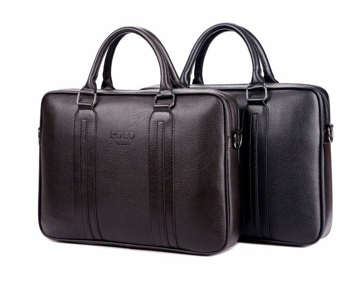 High Quality Polo Vision Unisex Handbag Business Briefcase Shoulder Travel Bag Faux Leather