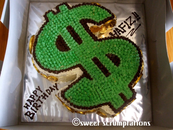Dollar cake Money Desserts Pinterest
