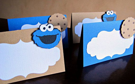Cookie Monster Party Food Tent Cards Cookie by ScrapYourStory
