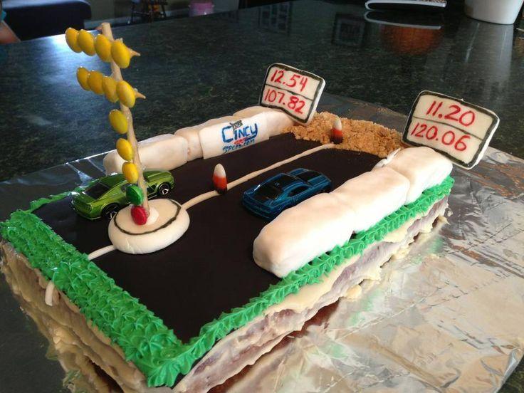 Happy Birthday Drag Bike Cake