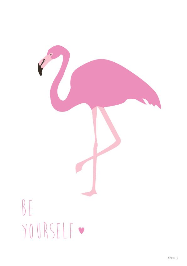 Flamingo printable - be yourself made by caatje_k