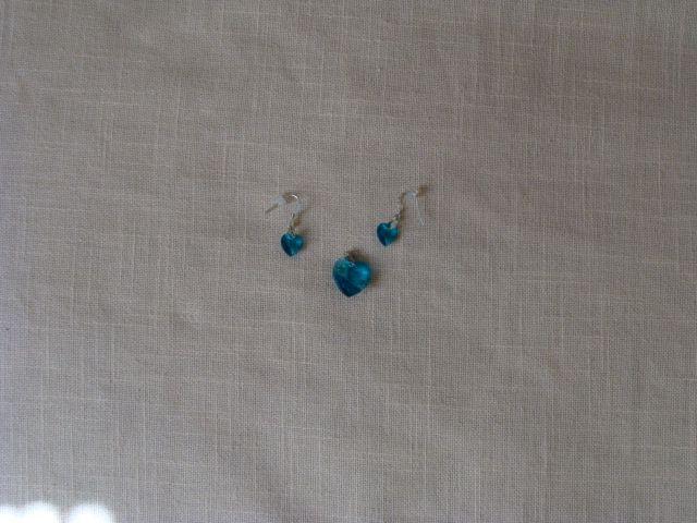 Blue heart set