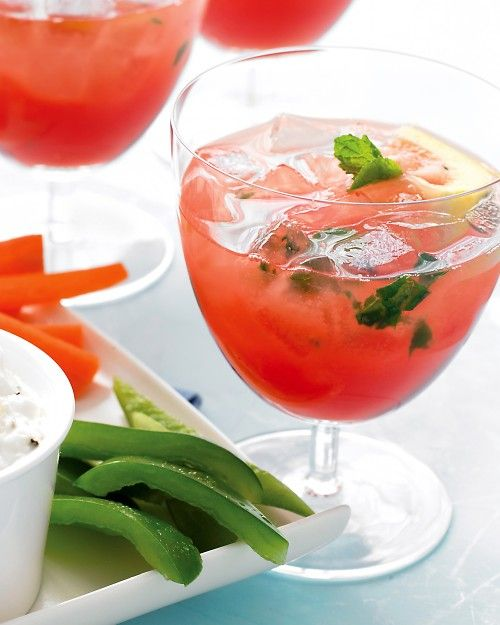 Watermelon Lemonade - With these icy pink drinks, your summer celebration will be made in the shade.: Watermelonlemonade, Watermelon Lemonade, Food, Feta Dip, Cocktail, Summer, Martha Stewart, Drinks, Lemonade Recipe