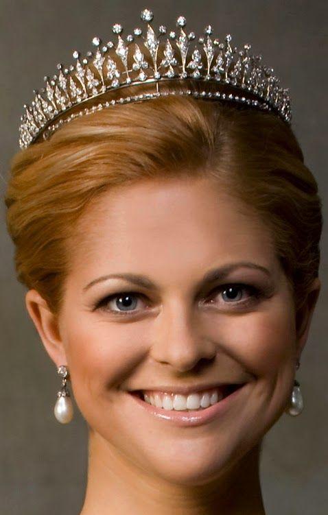 Tiara Mania: Modern Fringe Tiara worn by Princess Madeleine of Sweden