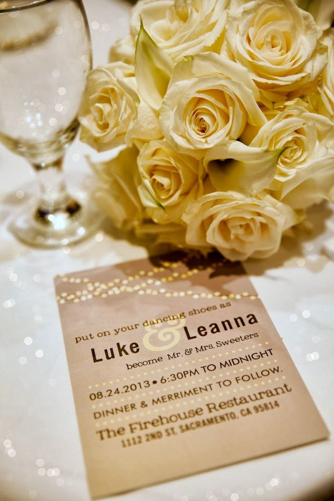 Cute invite! The firehouse sacramento wedding | Luke & Leanna | The Firehouse | Sacramento | CA | Wedding