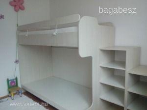 galéria ágy, emeletes ágy,lépcsős - 127000 Ft