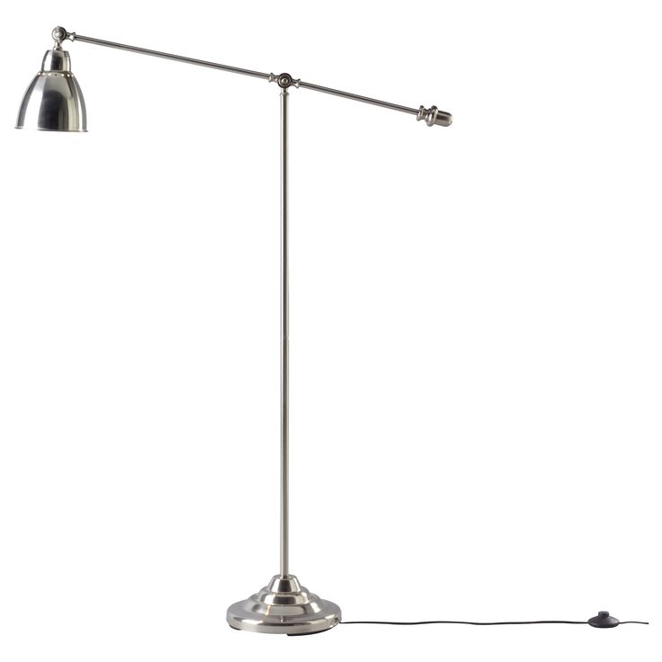 Barometer floor reading lamp nickel plated for Barometer floor reading lamp nickel plated