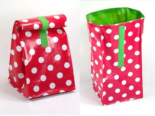 Lunchbag, mit dem Baby unterwegs, mit Punkten // lunchbag for the baby, on the road, bag with dots by DieKunterbunten via DaWanda.com