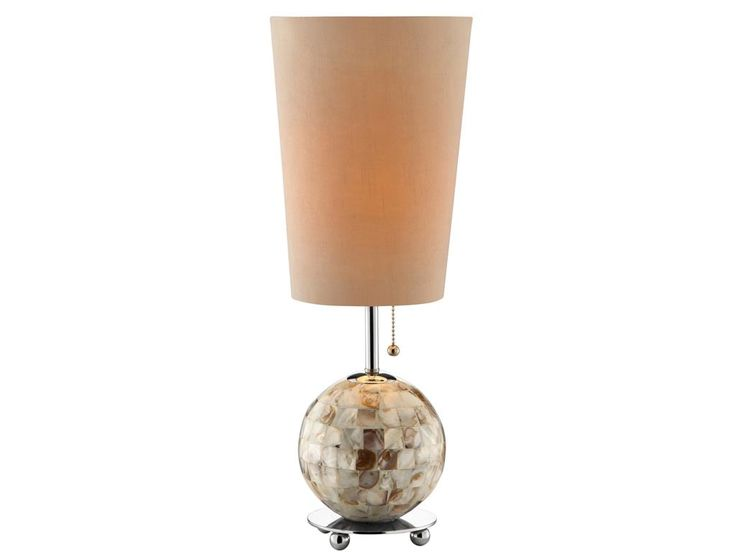 small lamp with big style love the shell base lamp. Black Bedroom Furniture Sets. Home Design Ideas