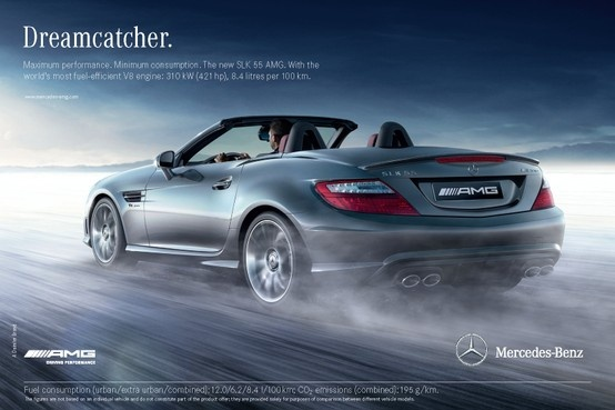Maximum performance, minimum consumption. The SLK 55 AMG.