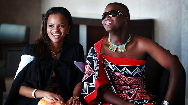 HRH Princess Sikhanyiso and her brother HRH Prince Lindani of Swaziland