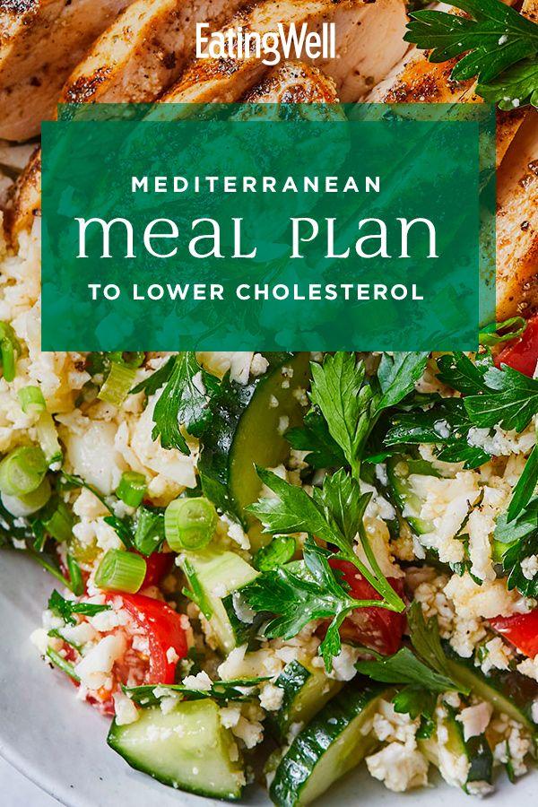 Mediterranean Meal Plan To Lower Cholesterol Foods To Lower Triglycerides Mediterranean Recipes Low Cholesterol Diet Plan