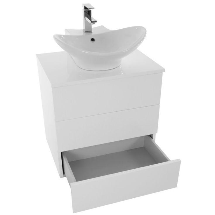 Bathroom Vanity Iotti Tn17 24 Inch Glossy White Vessel Sink Bathroom Vanity Wall Mounted Tn17