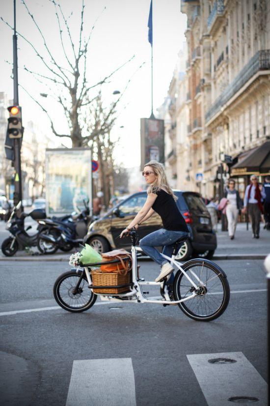 .Vélo cargo = très chic