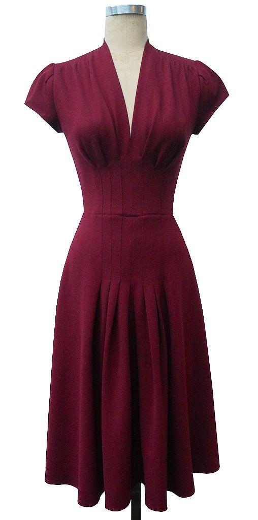 40s inspired dress- simple and elegant
