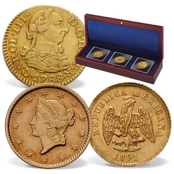 Gold Of The Wild West 3 Coin Set Coin Set Coins Gold Bullion Coins