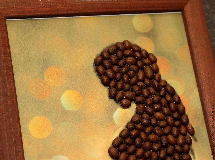 """Купить Кофейная картина """"Будущая мама"""" - коричневый, кофе, Беременность, беременная, картина, картина в подарок"""