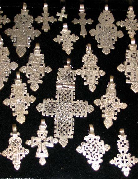 Silver Jewelry, Crosses, Ethiopian Coptic Crosses