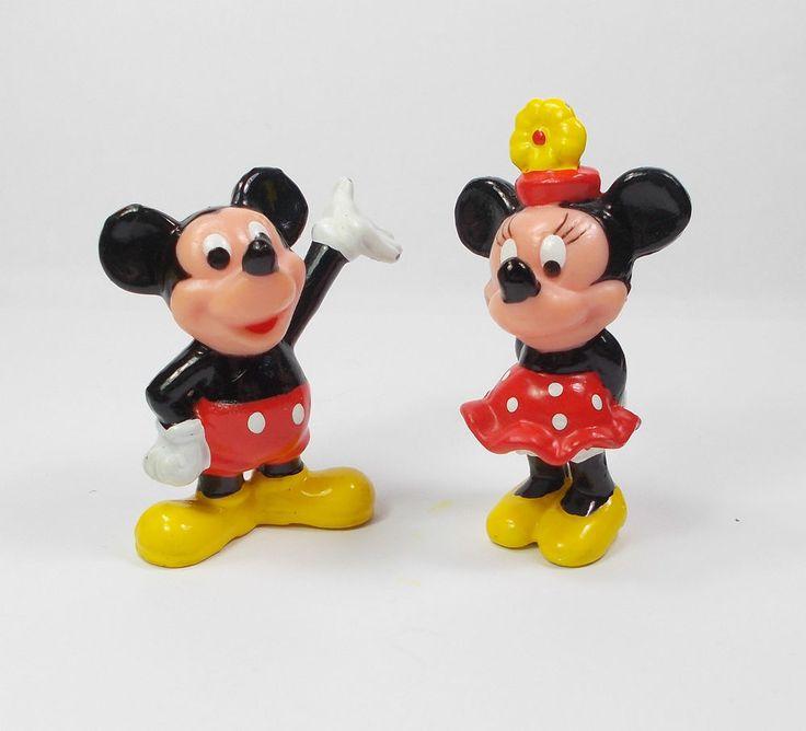 Mickey & Minnie Mouse - Mini Toy Figures - Disney - Cake Topper 1