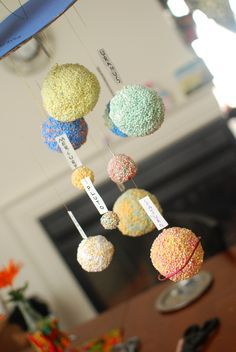 DIY solar system model using floam, cardboard ,strong thread and modpodge   # Pin++ for Pinterest #