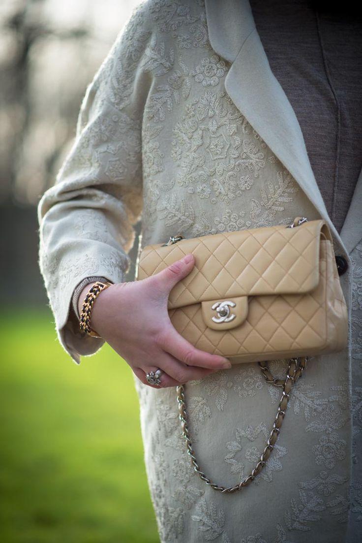 Chanel handbag superb vintage chanel bag vintage leather - Winter Beige Chanel Vintage 2 55 Bag