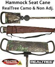 FashionableCanes.com  Hammock Seat Cane -Non Adj - REALTREE CAMO on shaft & Seat