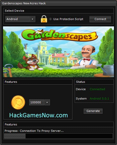 Gardenscapes New Acres Hack Coins [ Android / iOS ] http://hackgamesnow.com/gardenscapes-new-acres-hack-coins-android-ios/  Hello all! Do you ever wanted to become a gardener? This game give you the oportunity to live this kind of life. But to have a better gameplay you will need a lot of Coins. Download from the link below Gardenscapes New Acres Hack, an amazing tool to generate coins for free! This hack generator in working for all kind of devices, android and ios, including tablets.